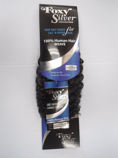 "12"" Salt n' Pepper Human Hair Jerry Curl Weave Track Grey Color 44"