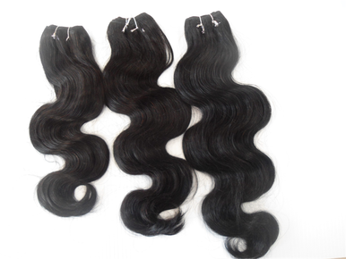 "3-pieces Bundle 10"" +  12"" + 14"" 300g Brazilian Human Hair Wefts Wavy Weave"