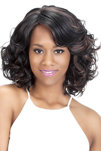 Vivica A Fox Fusion Heat Pure Stretch Cap Layered loose spiral curl Wig Asante