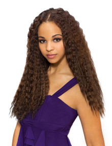 "18"" Human Hair Premium Blend Super French Wet and Wavy Wefts"