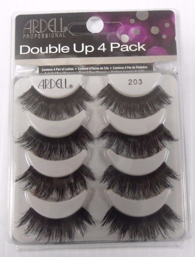 Ardell Double Up 4 Pack Strip Lashes Style #203 Full Volume