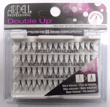 Ardell Eyelash Knot Free Double Up Flares Individual Long Black (pack of 4)