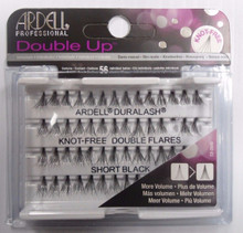 Ardell Eyelash Knot Free Double Up Flares Individual Short Black (pack of 4)