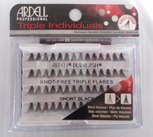 Ardell Eyelash Knot Free Triple Flares Individual Short Black (pack of 4)