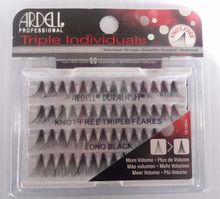 Ardell Eyelash Knot Free Triple Flares Individual Long Black (pack of 4)