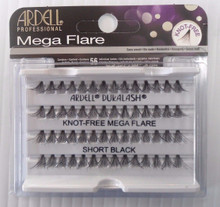 Ardell Eyelash Knot Free Mega Flare Individual Short Black (pack of 4)