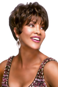 Vivica A Fox Short Premium Human Hair Pure Stretch Cap Full Wig H205-V