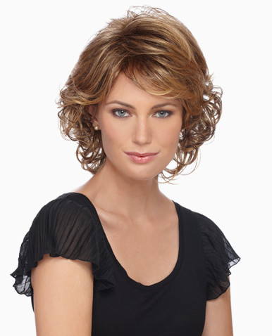 Estetica Pure Stretch Cap Full Wig Colleen Layered Style with Spiral Curls