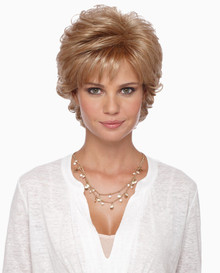 Estetica Pure Stretch Cap Short Full Wig Mandy - Brown, Blonde, & Gray