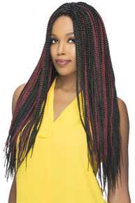 "Box Braid 20"" Crochet Braid 100% Kanekalon Hair Extensions (3-pack)"
