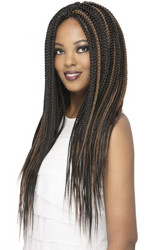 "Box Braid Sealed 20"" Crochet Braid 100% Kanekalon Hair Extensions (3-pack)"