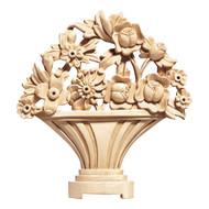 """CRV5058LW_10 1/2"""" Flower Basket Ctr Lindenwood"""
