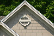 Round Louver with keystones