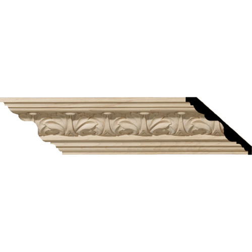 MLD02X02X03ACCH - Wood Crown Molding, Cherry