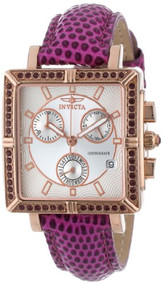 Invicta 10336 Women's Wildflower Classique Quartz Crystal Accented Purple Watch w/ 7-Piece Leather Strap Set