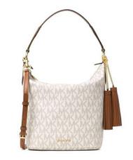 MICHAEL Michael Kors Elana Large Logo Shoulder Bag (Vanilla) 30T6GE3L3B-150