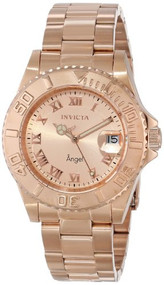 Invicta Women's INVICTA-14322 Angel Analog Display Swiss Quartz Rose Gold Wat...