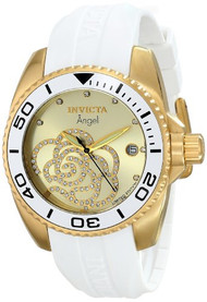 Invicta 'Limited Edition' Women's ILE0488ASYB Angel 18k gold Ion-Plated Cas...