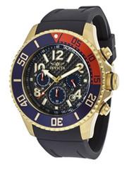 Invicta Men's 13730 Pro Diver Chronograph Black Carbon Fiber Dial Black Polyurethane Watch