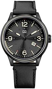 Tommy Hilfiger Men's 1791103 Casual Sport Analog Display Quartz Black Watch