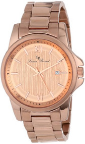 Lucien Piccard Men's 10048-RG-99 Breithorn Rose Gold Tone Textured Dial Rose ...
