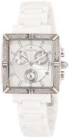Invicta Women's 0719 Ceramic Chronograph Diamond Accented White Ceramic Watch...