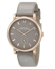 Marc Jacobs MBM1266 36mm Stainless Steel Case Beige Leather Mineral Women's W...