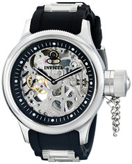 Invicta Men's 1088 Russian Diver Stainless Steel and Black Polyurethane Mecha...