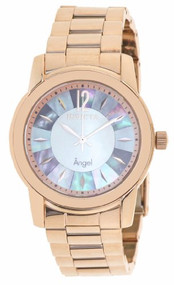 Invicta Angel Mother of Pearl Dial Rose Gold-tone Mens Watch 12631 [Watch] In...