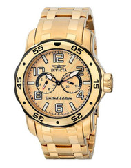 Invicta Men's 18036SYB Pro Diver 18k Gold Ion-Plated Stainless Steel Watch