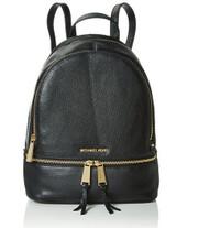 MICHAEL Michael Kors Rhea Zip Medium Leather Backpack, Black 30S5GEZB1L-001