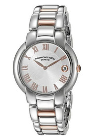 Raymond Weil 5235-S5s-01658-Sd Women's Jasmine Diamonds Ss And Rose-Tone Ss Rose-Tone Numerals Ss Watch …
