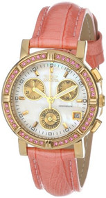 Invicta Women's 10317 Wildflower Chronograph White Mother-Of-Pearl Dial Cryst...