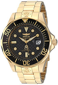 Invicta Men's 10642 Pro Diver 18k Gold Ion-Plated Automatic Dive Watch [Wat...