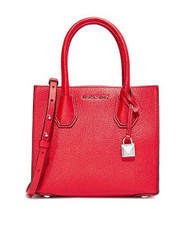 MICHAEL Michael Kors Women's Medium Mercer Messenger Bag, Bright Red, One Size 30F6SM9M2L-204