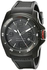 Tommy Hilfiger Men's 1790708 Analog Display Japan Movement Black Watch [Watch...