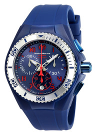 Technomarine Unisex TM-115016 Cruise California Quartz Chronograph Blue, Red Dial Watch