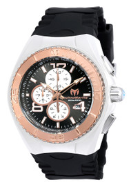 TechnoMarine Men's TM-115303 Cruise JellyFish Quartz Multifunction Black Dial Watch