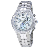 Technomarine Men's TM-715018 Sea Pearl Quartz White, Silver Dial Watch