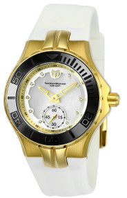 TechnoMarine Women's TM-115398 Cruise Ceramic Quartz 3 Hand White Dial Watch