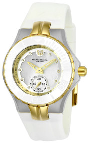 TechnoMarine Women's TM-115399 Cruise Ceramic Quartz 3 Hand White Dial Watch