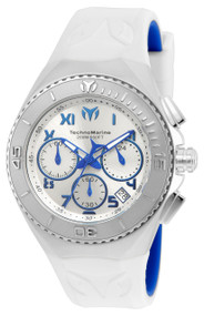 TechnoMarine Men's TM-215074 Manta Ocean Quartz  Silver, Blue Dial Watch