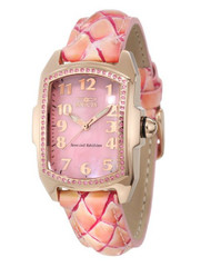 Invicta Women's 10210 Lupah Pink Mother-Of-Pearl Dial Pink Leather Watch [Wat...
