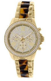 Invicta Angel Multi-Function Gold Crystal-set Gold-plated Ladies Watch 20509