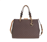 Michael Kors Cynthia Medium Logo Satchel- Brown 30F7GCYS2B-200