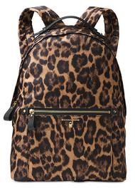 MICHAEL Michael Kors Kelsey Large Nylon Backpack (Leopard) 30F7GO2B3C-226