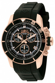 Invicta Men's 11750 Pro Diver Quartz Chronograph Black Dial Watch