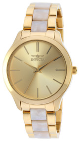 Invicta Women's 20496 Angel Quartz 3 Hand Gold Dial Watch