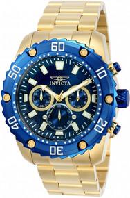 Invicta Men's 22518 Pro Diver Quartz Chronograph Blue Dial Watch