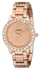 Fossil Women's ES3020 Jesse Analog Display Analog Quartz Rose Gold Watch [Wat...